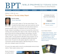 Bible Prophecy Today website